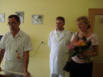 Blahopřát přišli: Prim.MUDr. Miláček,prim.MUDr.Antonín, Ing. Fischerová CsC.