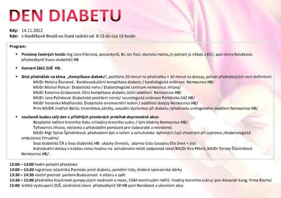 Den diabetu 14.11.2012