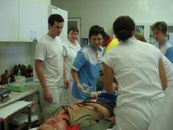 vyšetření zraněného