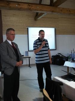 MUDr. David Marx, PhD. a ředitel nemocnice MUDr. Vít Kaňkovský