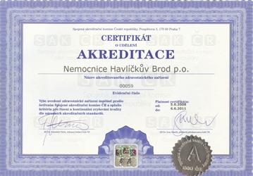 certifikat SAK ČR