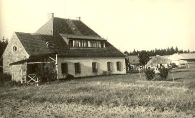 Bývalá hájovna v Jiříkově, kterou primář Dr. Trnka vlastnil od roku 1935