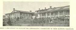 pohled z jižní strany na pavilon pro chirurgickou tuberkosu se tøemi sllunnými verandami